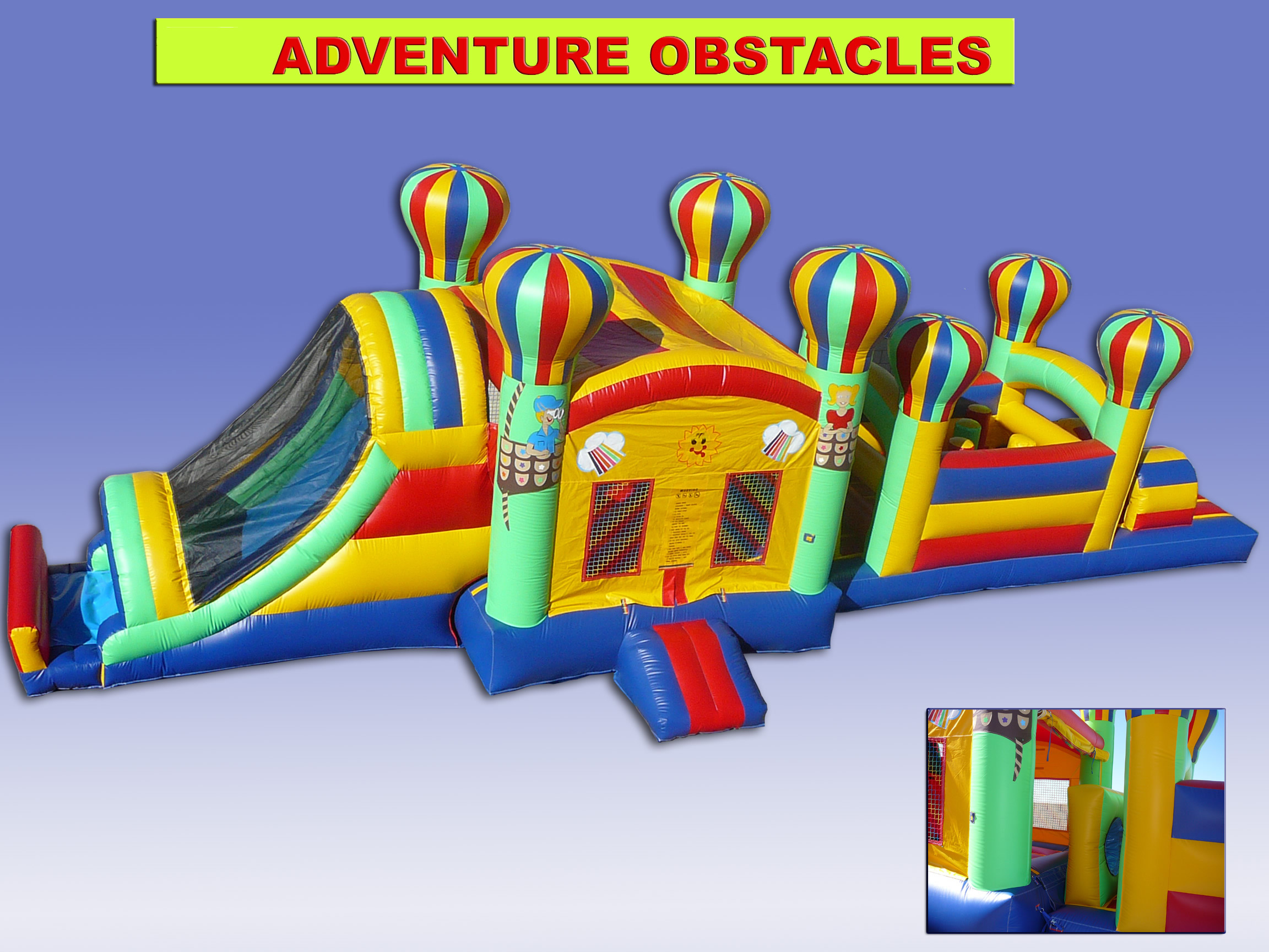Adventure Jumper Slide Combo with Obstacle Course